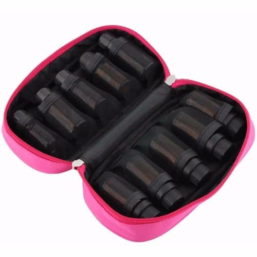 Essential Oil Carrying Case – pink (for 10 oils)